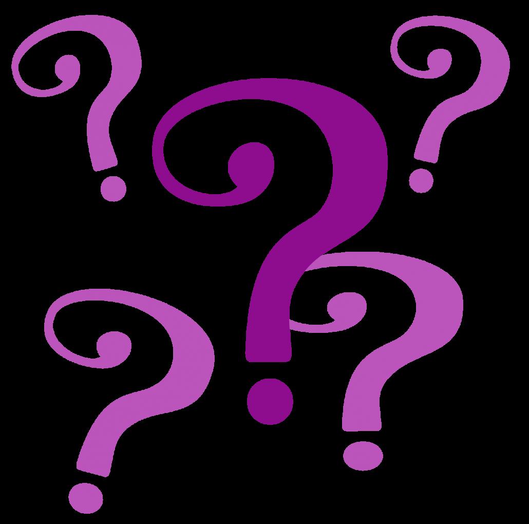 Purple question mark clipart 2