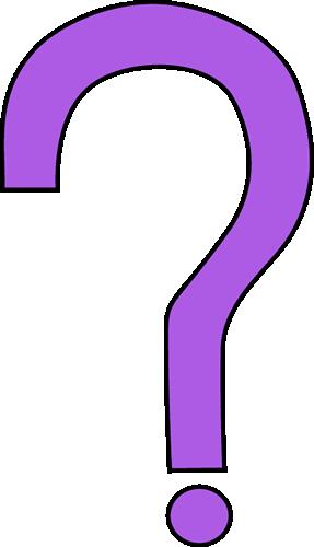 Purple question mark clipart 4