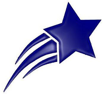 Purple shooting star clipart 2