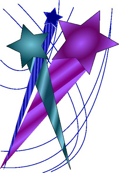Purple shooting star clipart 4