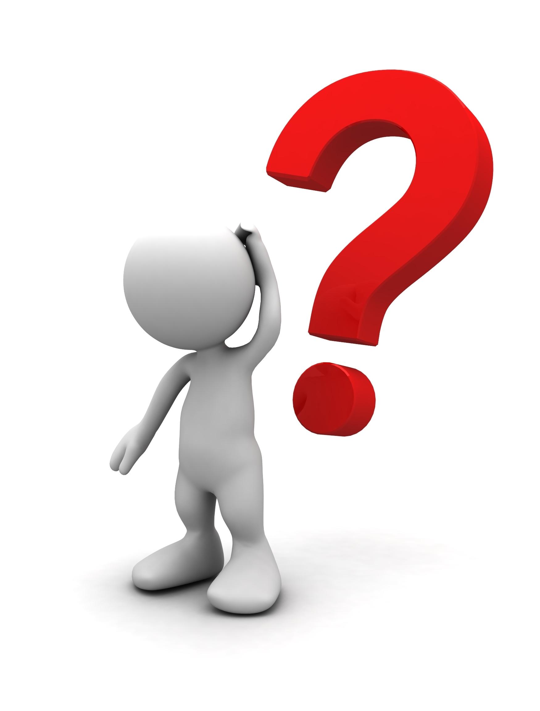 Question stick figure clipart
