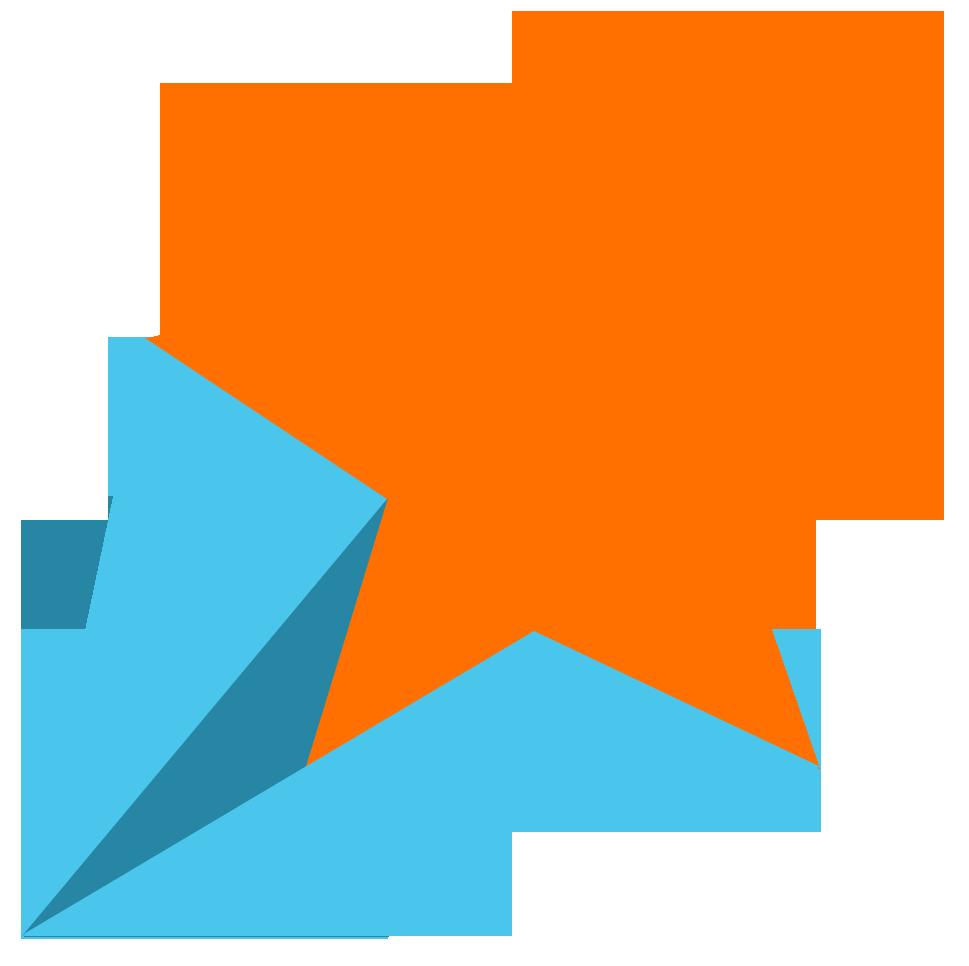 Retro shooting star clipart