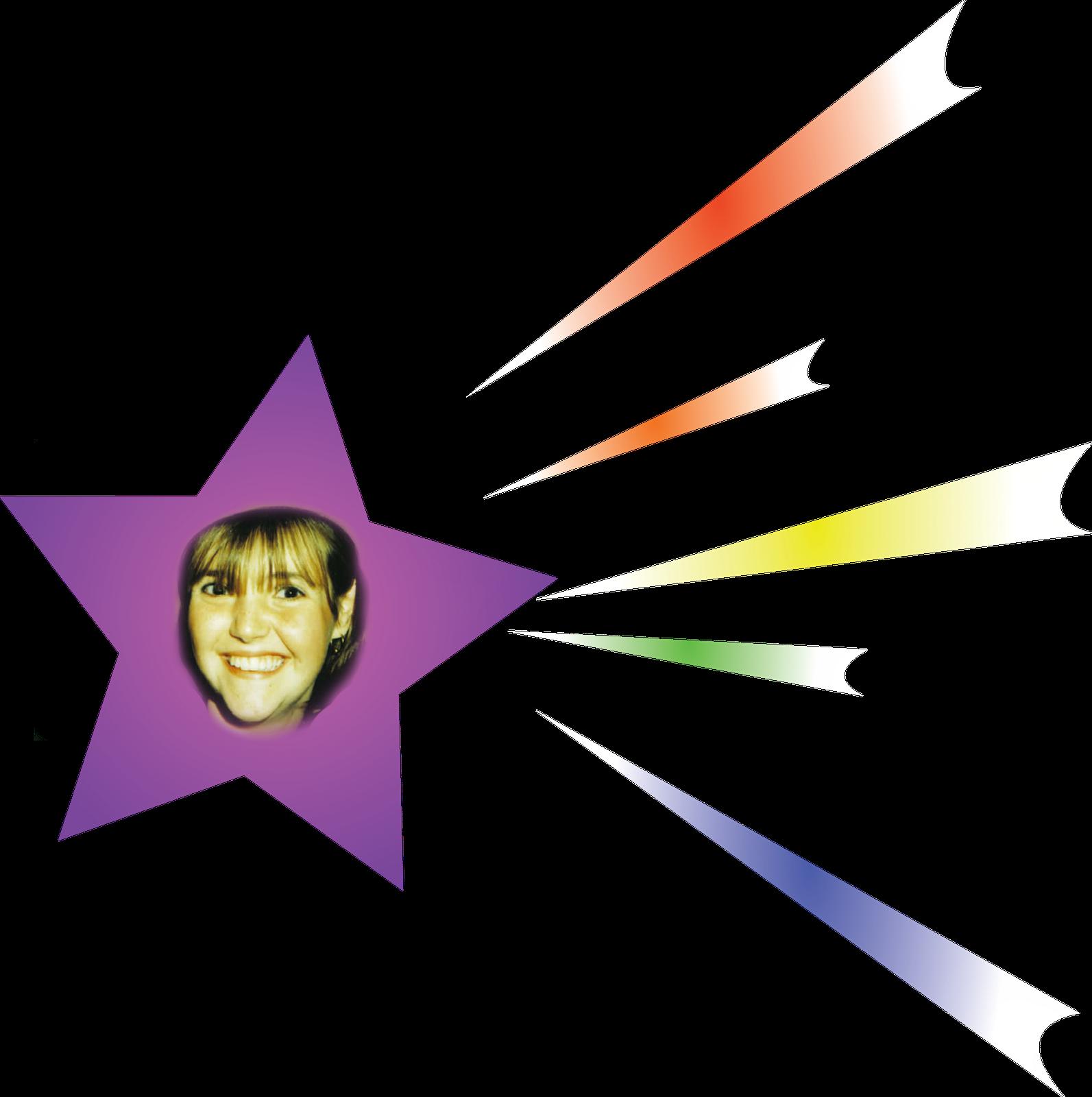 Rocket shooting star clipart 3