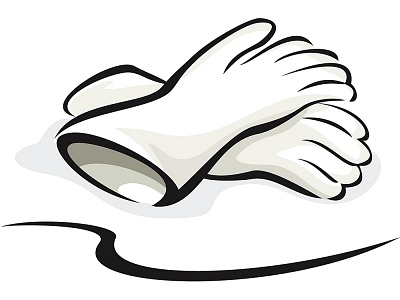 Rubber gloves clipart