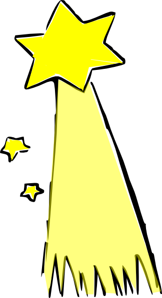 Shooting star clip art black and white free 3
