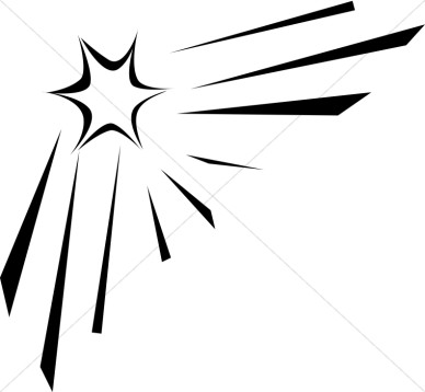 Shooting star clip art black and white free 4