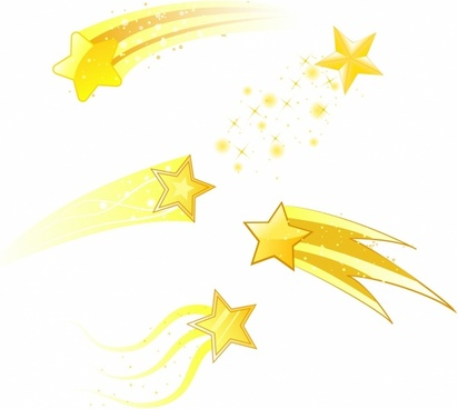 Shooting star clipart banner