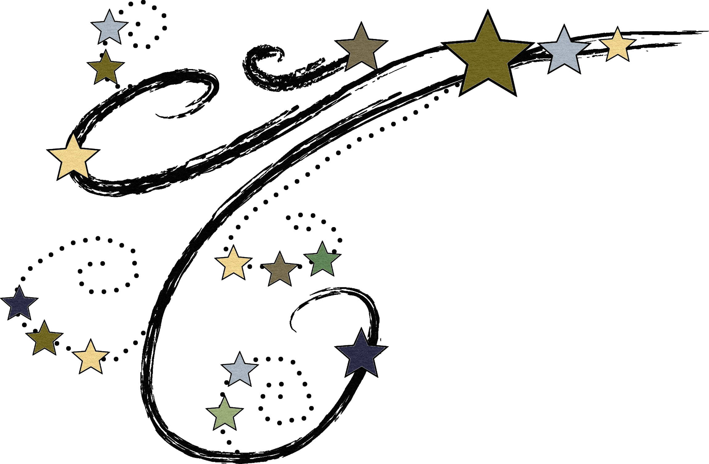 Shooting star clipart free