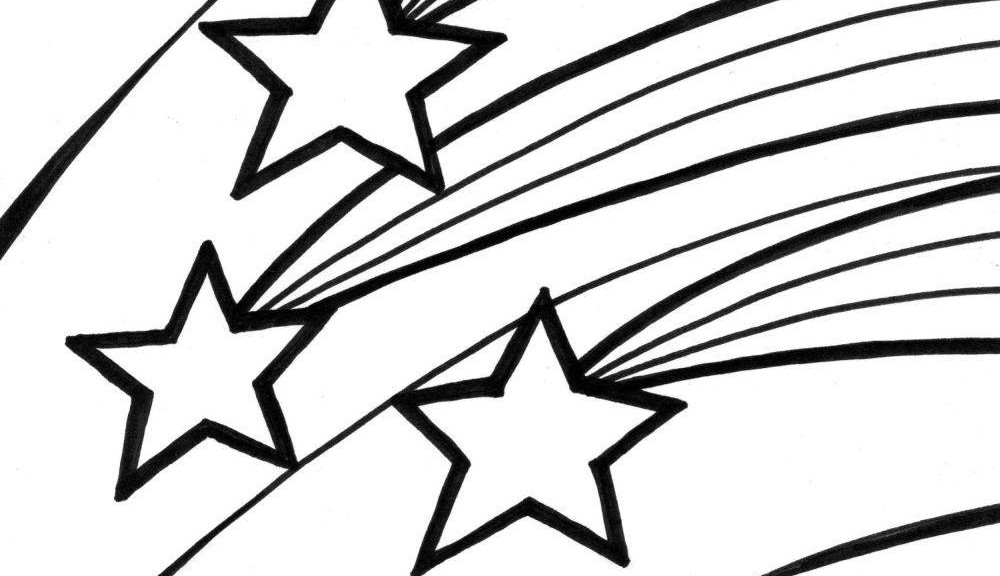 Shooting star clipart page