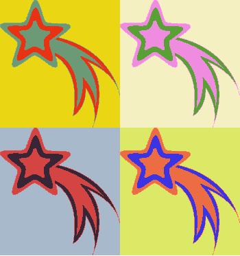 Shooting stars clipart yellow star 5jbsfd