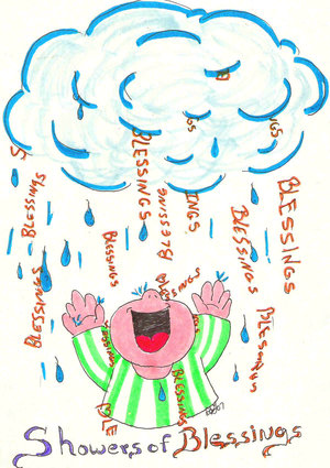 Showers of blessings clipart