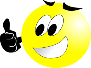Smiley face thumbs up free thumbs up clipart pictures