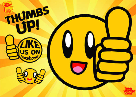Smiley face thumbs up free vector download 2 free for