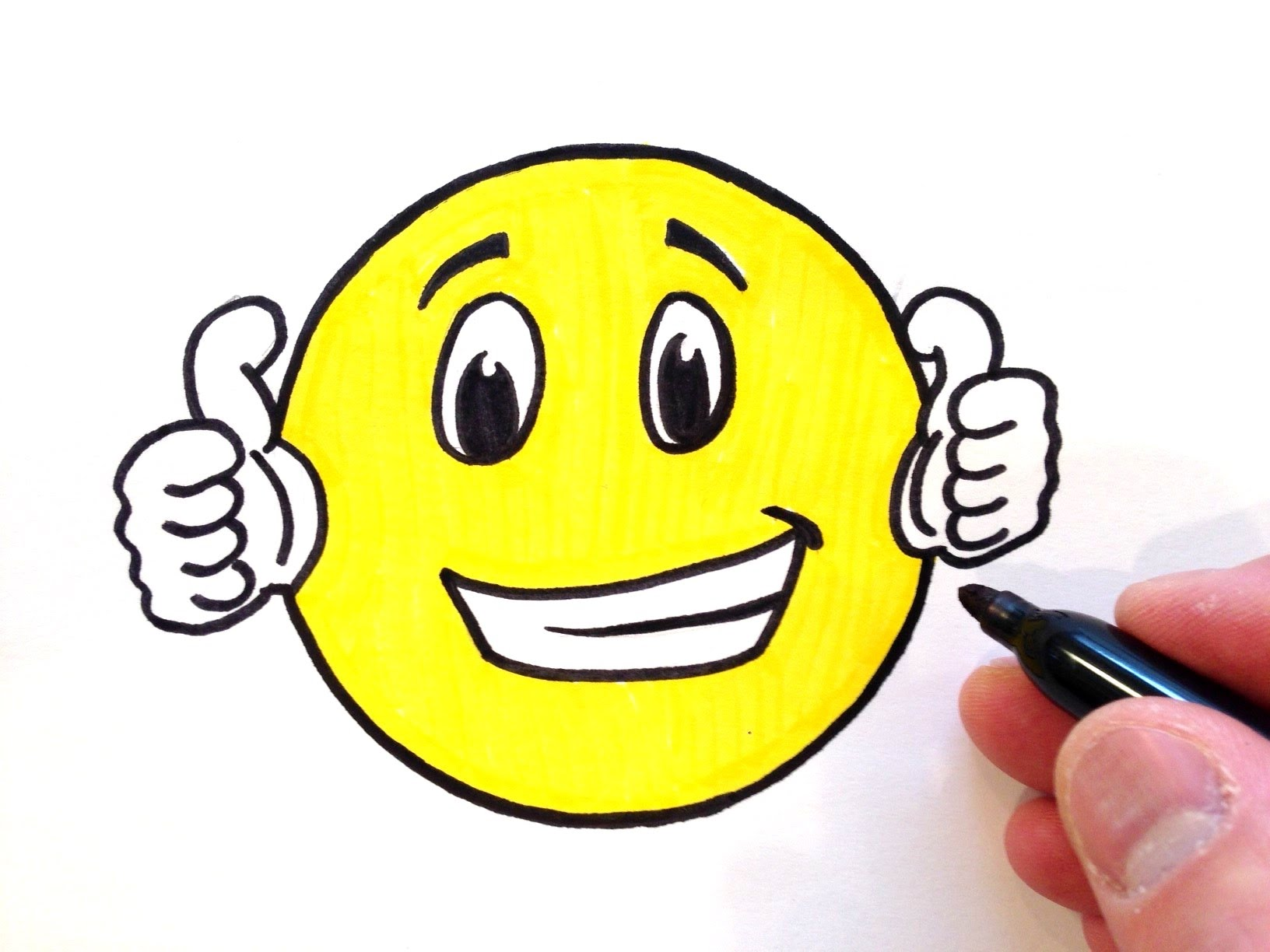 Smiley face thumbs up how to draw a thumbs up smiley face youtube