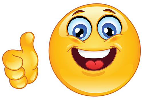 Smiley face thumbs up smiley face and thumbs up clipart