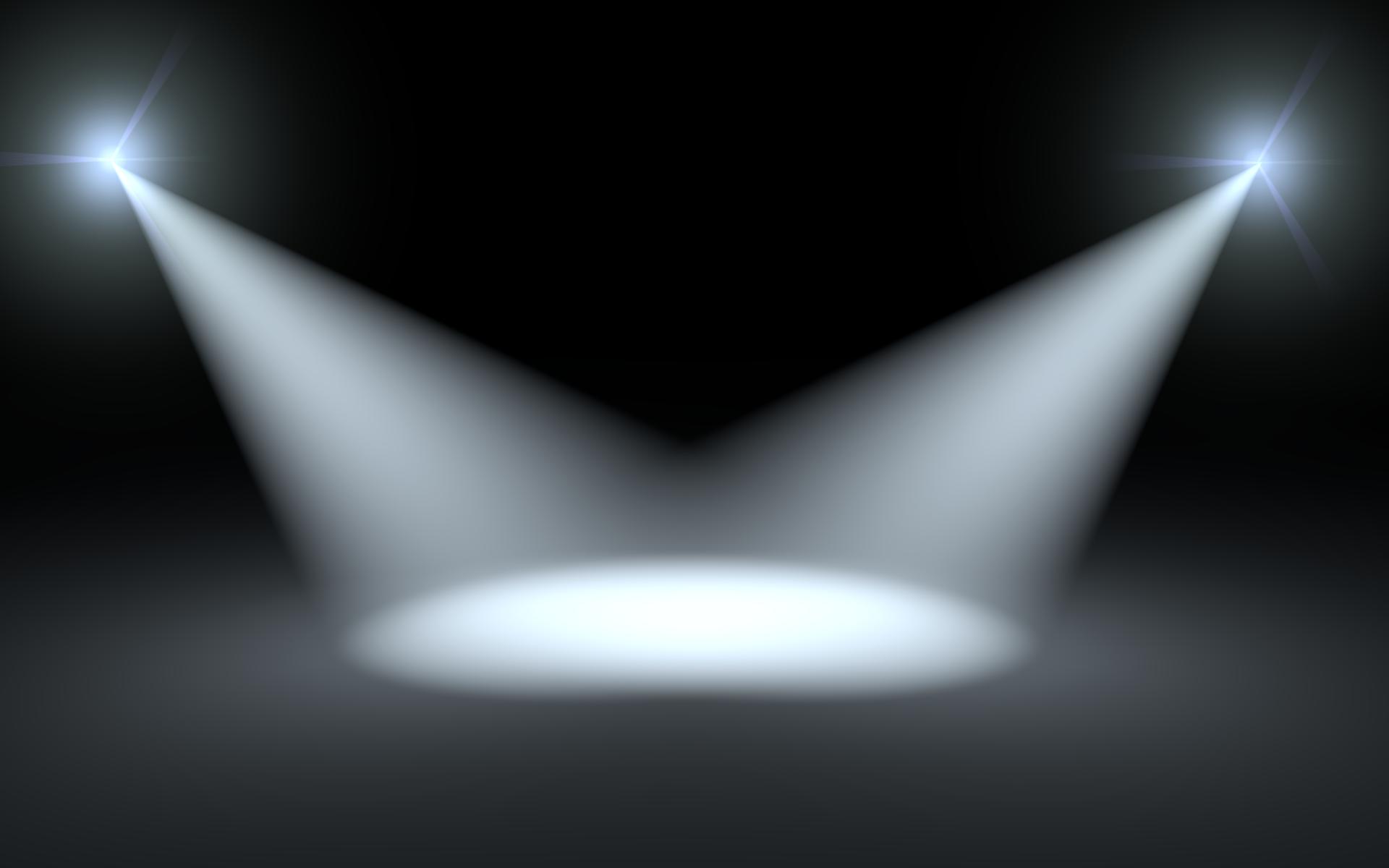 Spotlight black and white clipart 3