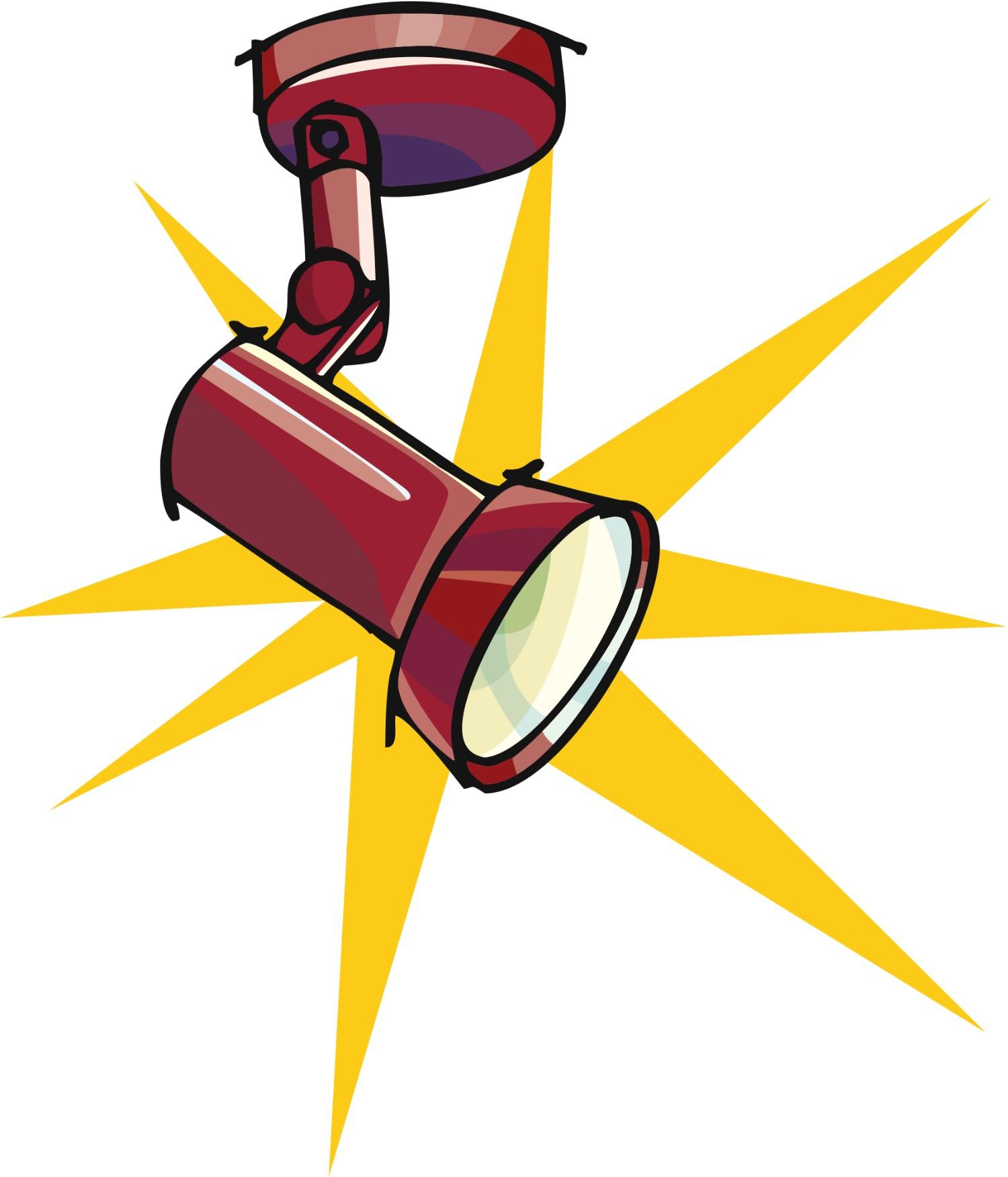 Spotlight clip art free clipart images 5