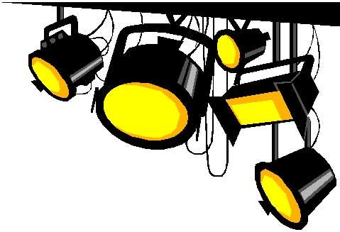 Spotlight clip art vector free 2