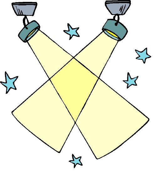Spotlight clip art vector free
