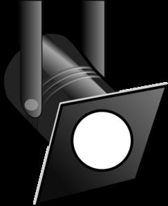 Spotlight clipart black and white