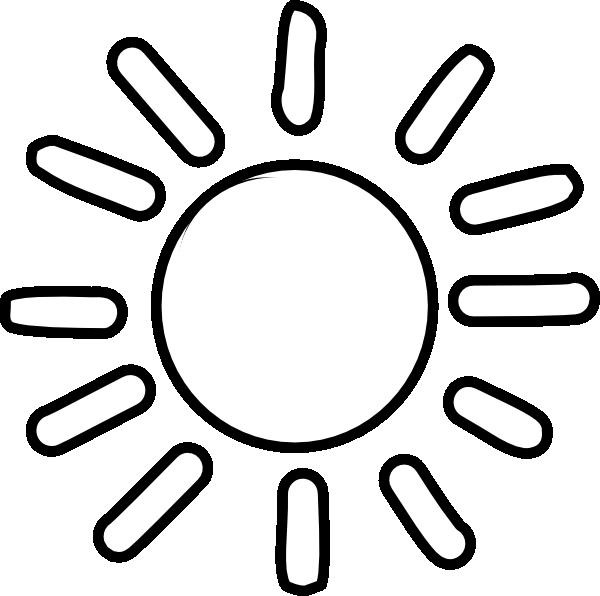 Sun  black and white sun simple clipart