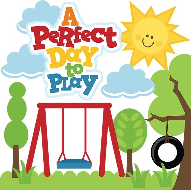 Swing set play clipart