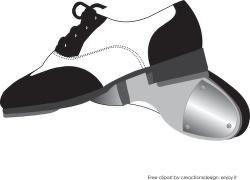 Tap shoes clip art free clipart images 2