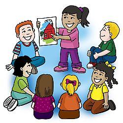 Teacher circle time clipart