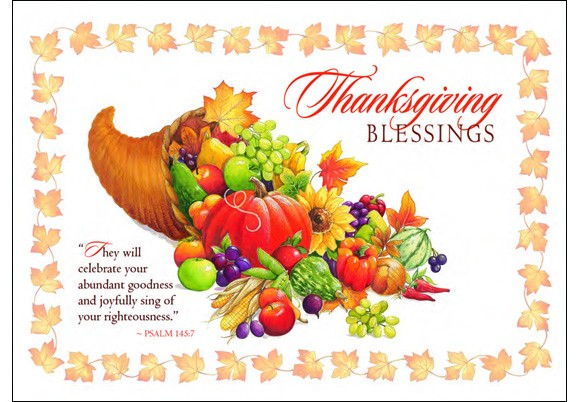 Thanksgiving blessings clipart 2