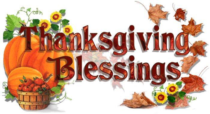 Thanksgiving blessings clipart 3