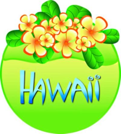 Tropical free hawaiian clip art flower luau