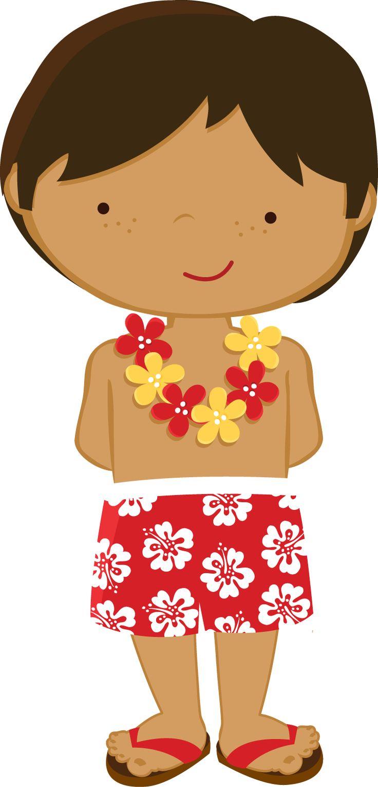 Tropical luau clipart hawaiian free clip art