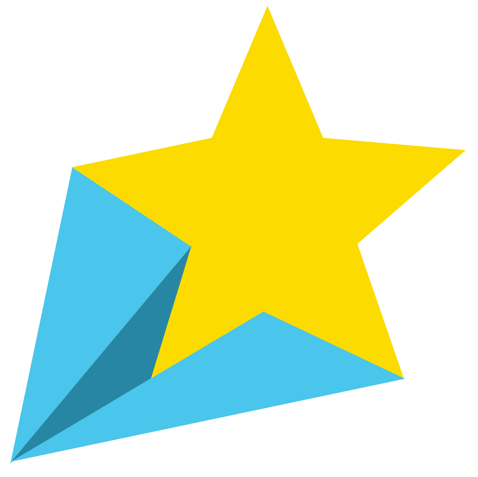 Yellow shooting star clipart 2