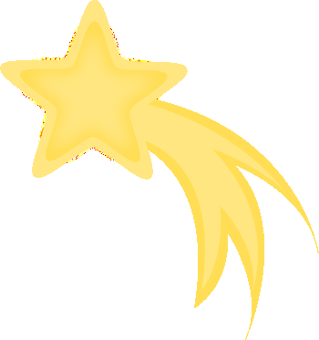 Yellow shooting star clipart 4