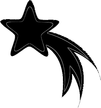 Yellow shooting star clipart 5