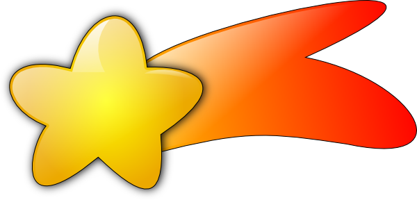 Yellow shooting star clipart 6
