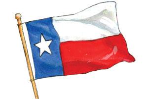 Animated texas flag clipart