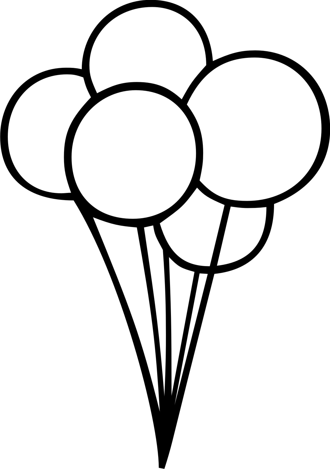 Balloon black and white clipart