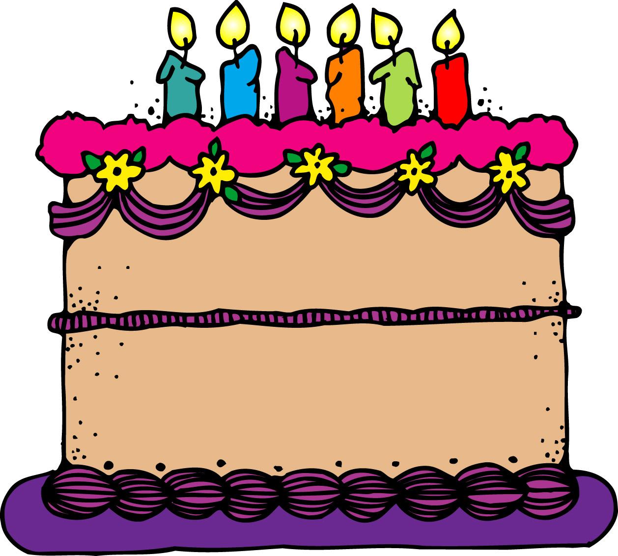Birthday cake animated clipart