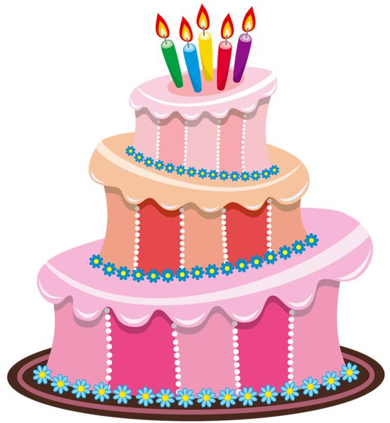 Birthday cake art cake birthday clipart 4 cakes 2