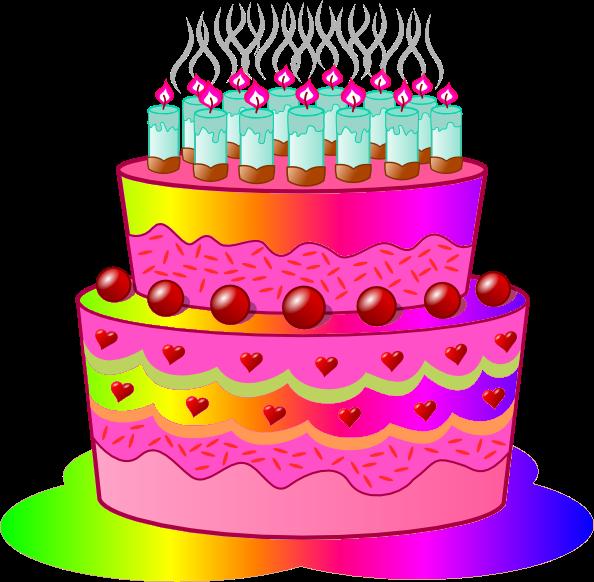 Birthday cake art cake birthday clipart 4 cakes 3