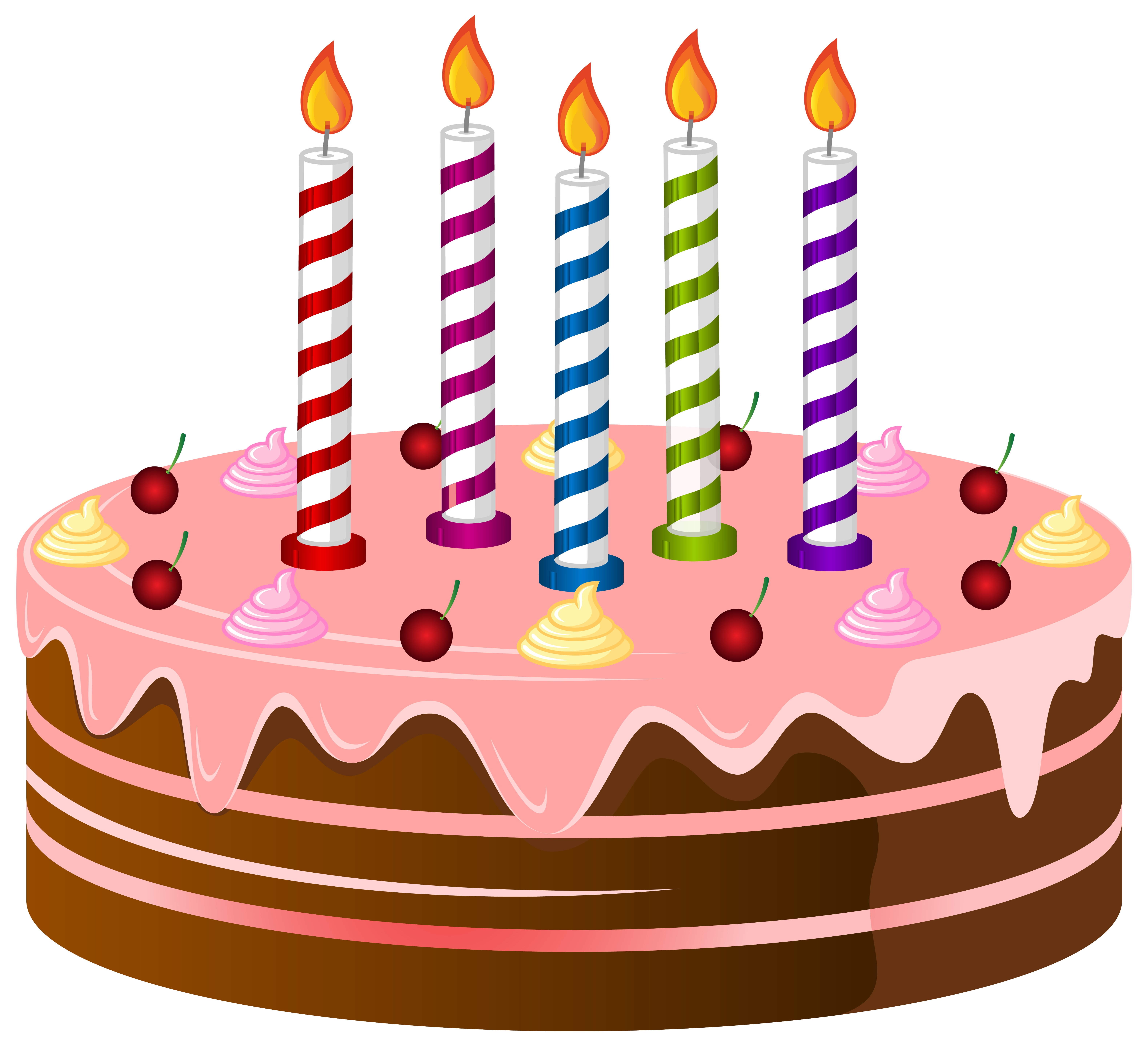 Birthday cake art cake birthday clipart 4 cakes