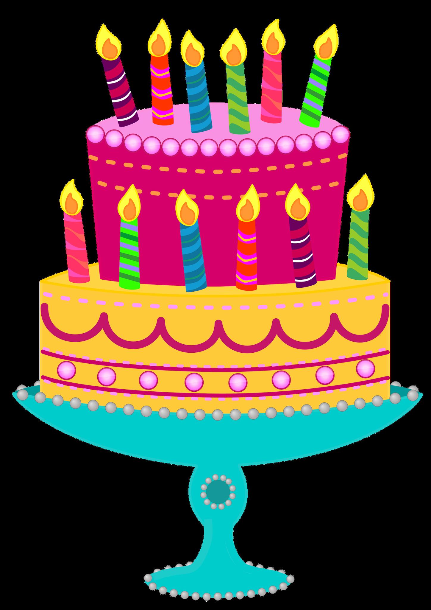 Birthday cake clipart 4
