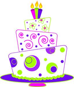 Birthday cake clipart 9