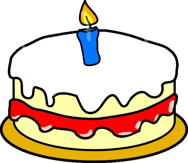 Birthday cake first birthday clipart