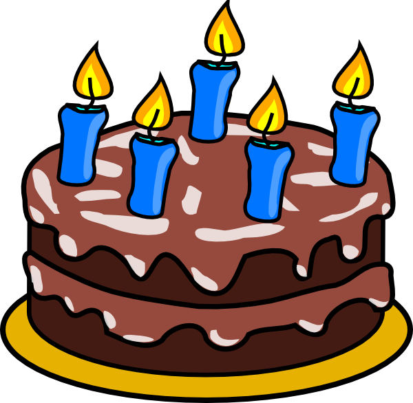 Birthday cakes candles clipart