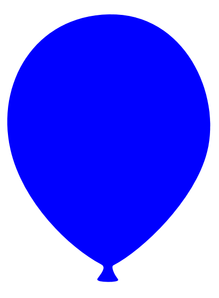 Blue balloon clipart free images
