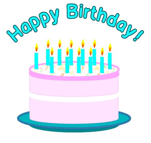 Blue birthday cake clipart 2