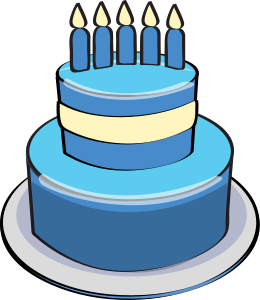 Blue birthday cake clipart 3