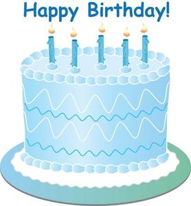 Blue birthday cake clipart 4